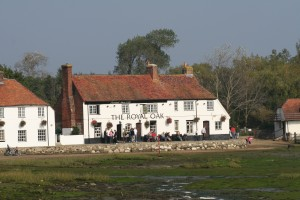 Royal Oak and cottages at Langstone