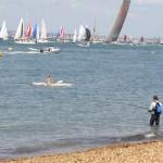 Fisherman and boats